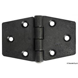 Charnière nylon reinforcé noir 98x65 mm  38.823.20
