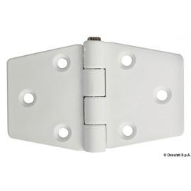 Charnière nylon reinforcé blanc 98x65 mm  38.823.21