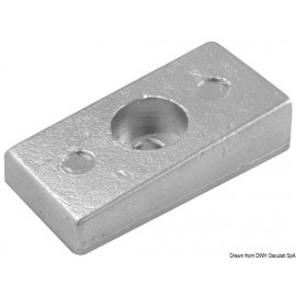 Anode plaque aluminium Honda 75/130 HP  43.424.08