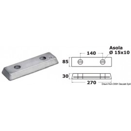 Barre en aluminium A  43.511.01
