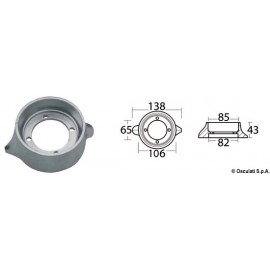 Anode collier aluminium pour Sail Drive Ø 105 mm  43.530.10