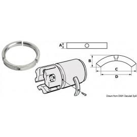 Kit 3 anodes en zinc p. hélice 4 pale Sail Drive  43.535.01