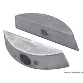 Paire anodes zinc pour hélices pliables  43.555.00