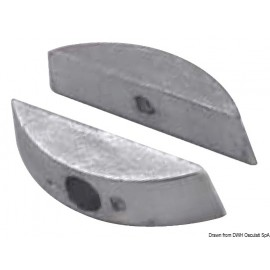 Paire anodes aluminium pour hélices pliables  43.555.10