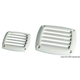 Grille ABS 125 x 125 mm blanche  53.480.84