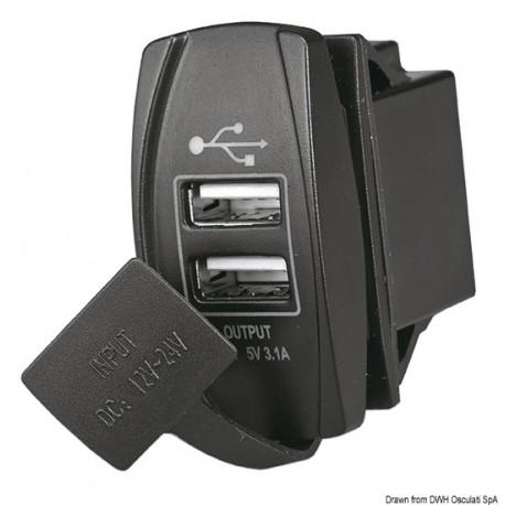 Prise de courant avec double USB  14.195.60