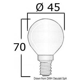Ampoule E 14 24 V 25 W  14.483.44