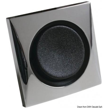 Interrupteur simple 10 A chromé/noir  14.486.02