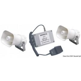 Avertisseur/Sifflet 2 haut-parleurs étanches 12 V  21.428.12