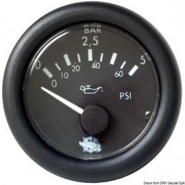 Indicateur pression huile Guardian 0-5 bar noir12V  27.429.01