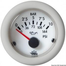 Pression huile indicat. Guardian 0-10bar blanc 12V  27.529.02
