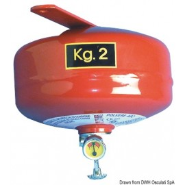 Extincteur à pluie de poudre ogive 2 kg  31.515.02