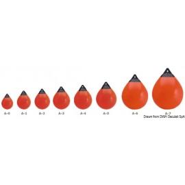 Pare-battage et bouée Polyform A2 rouge/tête bleue  33.600.27RO