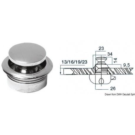 Pommeau laiton chromé 19 mm  38.181.03